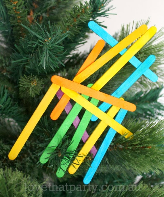 Easy kid's DIY Neon Christmas Decorations. www.lovethatparty.com.au