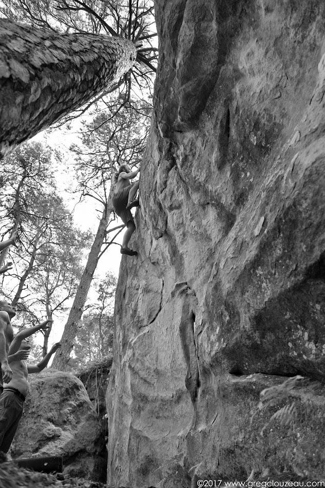 Guillaume fait le Moondance, 6A, Franchard Cuisinière, Fontainebleau