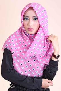 Shafeeya Kerudung Rawis Motif Tara - Pink