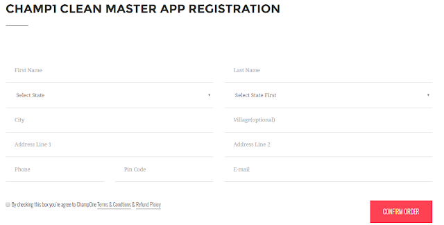 CHAMP1 CLEAN MASTER APP REGISTRATION
