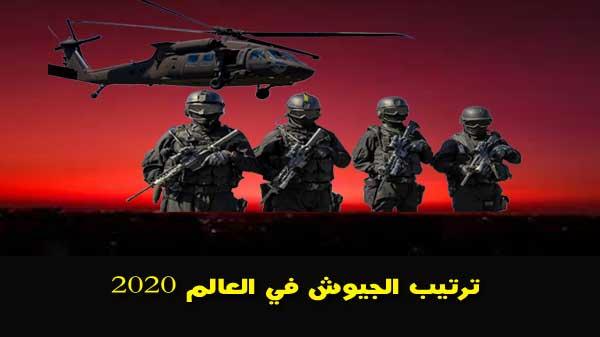 ترتيب الجيوش في العالم 2020