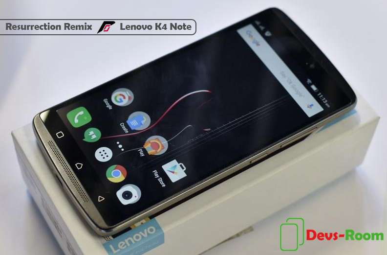 resurrection remix lenovo k4 note