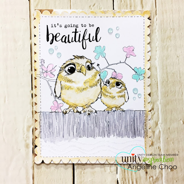 ScrappyScrappy: [NEW VIDEO] Painting with Nuvo Mousse with Unity Stamp #scrappyscrappy #unitystampco #katscrappiness #ginamariedesigns #tonicstudios #nuvomousse #nuvodrop #watercolor #metallicwatercolor #card #cardmaking #stamp #stamping #papercraft #quicktipvideo #youtube