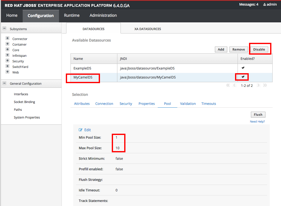 Red Hat JBoss Fuse - Integrating Database, Java Bean and