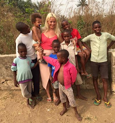 Nigerian children with Ringgren Loven