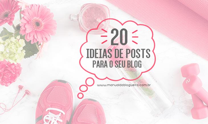 ideias de posts