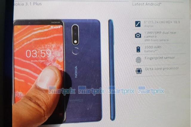 Nokia 3.1 plus Retail Box