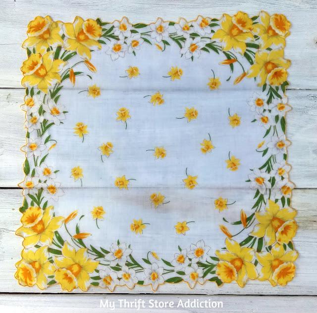 vintage daffodil hankie