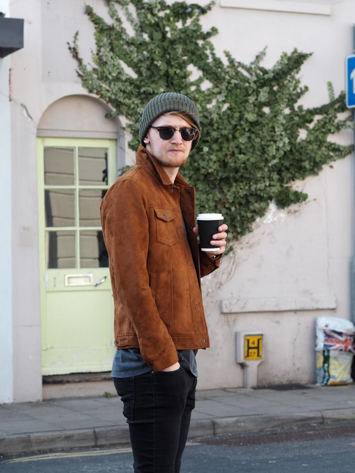 Henry drinking coffee