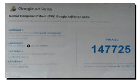 nomor Pin dari AdSense