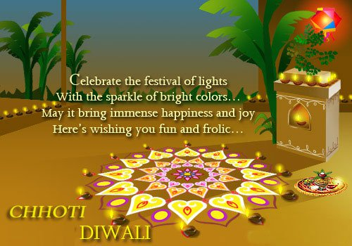 Chhoti Diwali wallpaper with message, sms in English