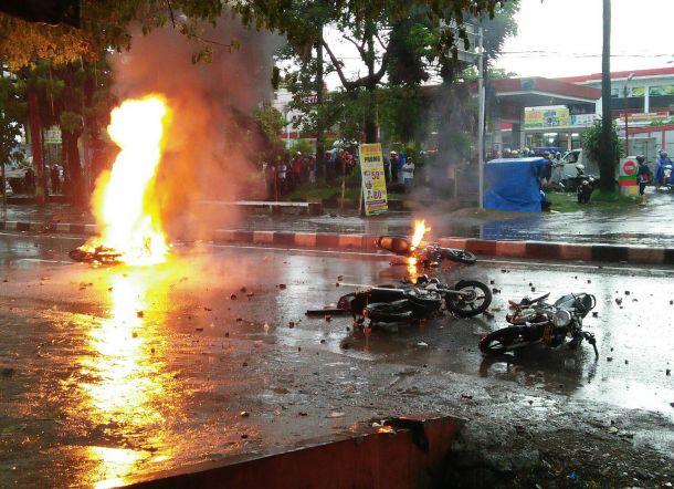 Polisi Cari Pelaku Pembakaran Enam Motor Polisi