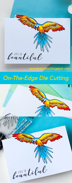 On The Edge Die Cutting for One Layer Card