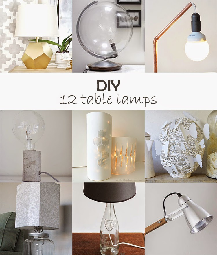 DIY Monday # Table lamps