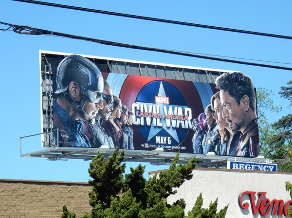 Captain America Civil War cut-out extension billboard