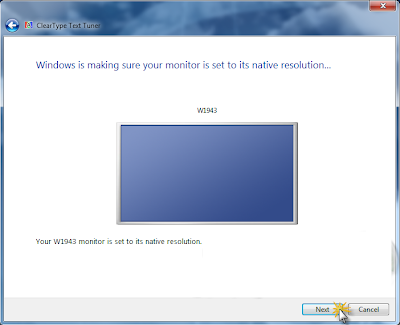 Clear Type windows 7