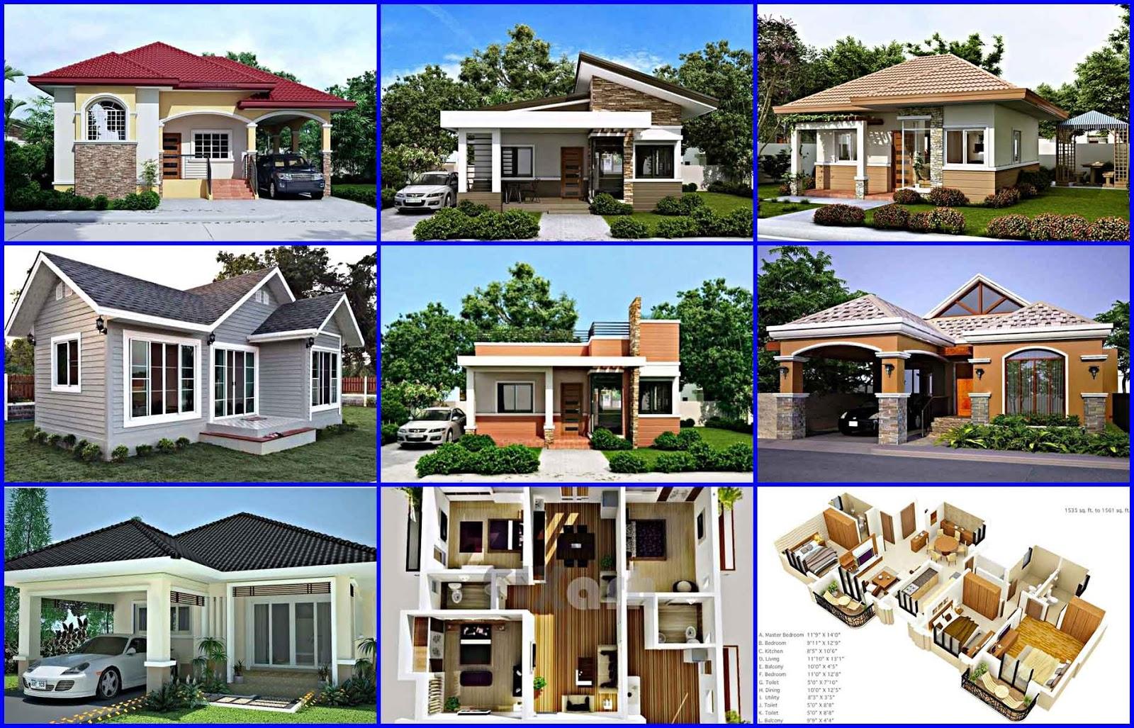 13 Gambar Denah  Desain Rumah Minimalis Type 45 3 Kamar