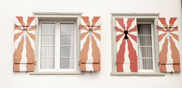 Colorful shutters on a day trip to Stein am Rhein Switzerland