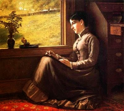 john george brown woman seated at window