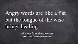 Angry words are like a fist but the tongue of the wise brings healing.