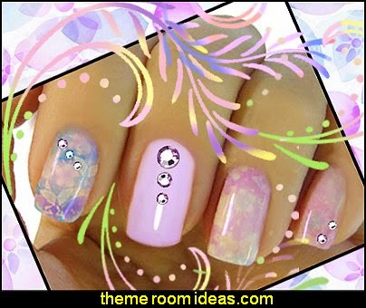 Flower Nail Art  Sticker Flower Nail Decal