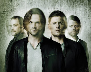 Supernatural Jared Padalecki and Jensen Ackles and Misha Collins and Mark Sheppard
