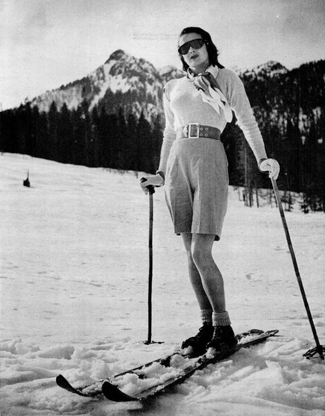 Vintage Ski Fashion u2013 48 Snapshots of Female Skiers From the 1920s and 1930s ~ vintage everyday
