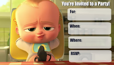 Boss Baby invitation