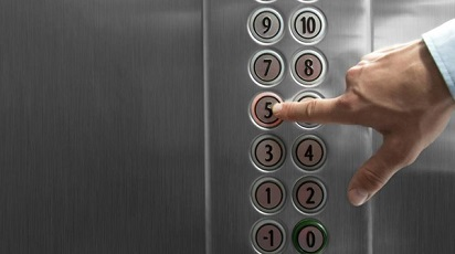 tombol lantai lift - cara naik lift
