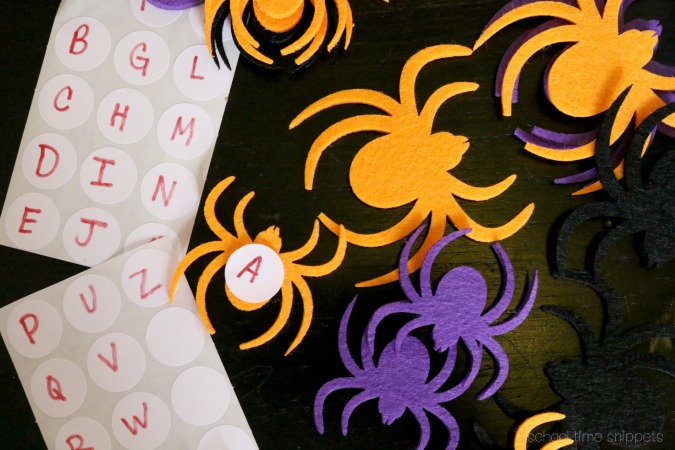 Letter Matching Spider Activity