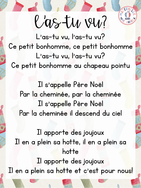Looking for some simple French Christmas songs for your French kindergarten or primary students to learn this holiday season? Check out my top five favourite Christmas songs to teach in maternelle!