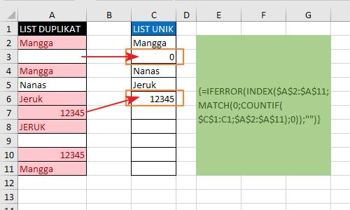 Menghilangkan Data Yang Sama 2