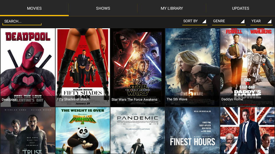 Android Apps: SHOWBOX v 10 1 - mysatbox tv