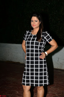 Shilpa Chakravarthy in Dark blue short tight dress At Srivalli Movie Pre Release Event ~  Exclusive Celebrities Galleries 007