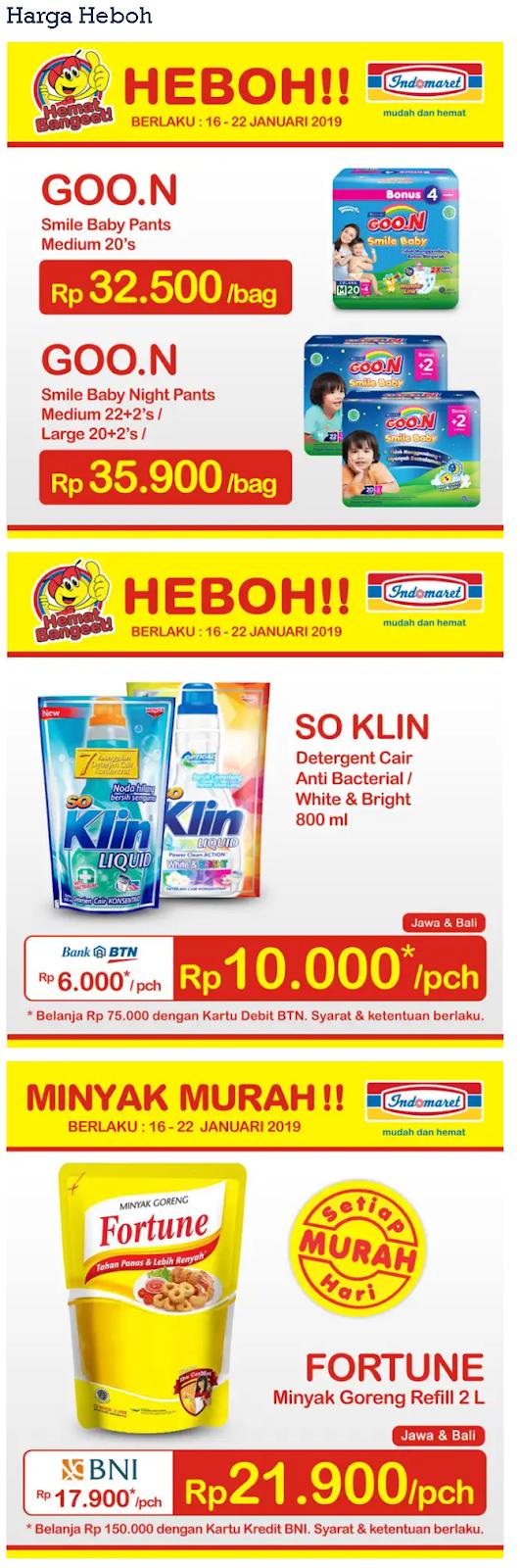 Katalog Promo Indomaret Harga Heboh Terbaru 18 - 22 Januari 2019