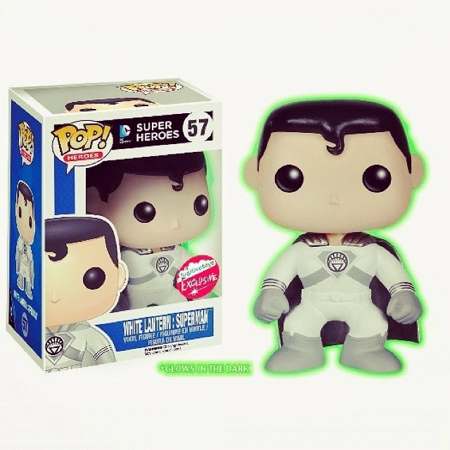 San Diego Comic-Con 2014 Exclusive Glow in the Dark White Lantern Superman DC Comics Pop! Vinyl Figure by Funko