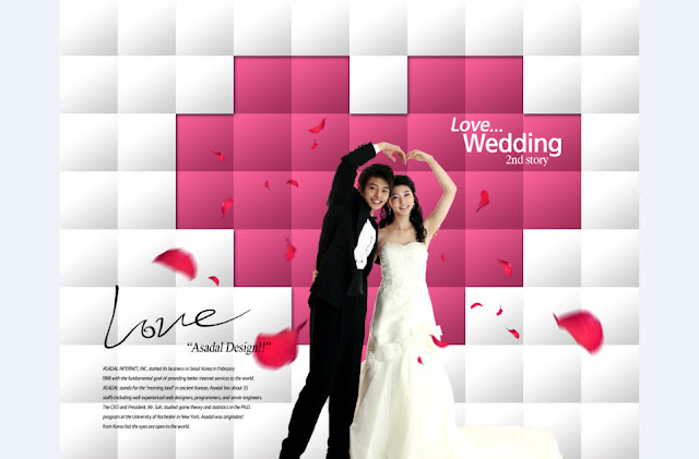 FREE PSD 2017 : The groom and bride background beautiful boxes