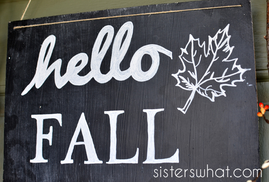 Hello Fall Sign and Wreath