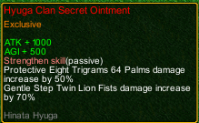 naruto castle defense 6.0 Hinata Hyūga Clan Secret Ointment