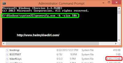 Cara menghapus file hiberfil.sys