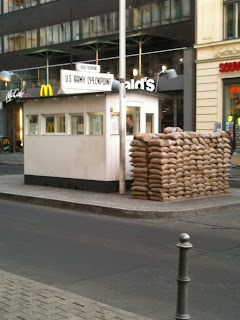 Guardhouse in front of McDonald's