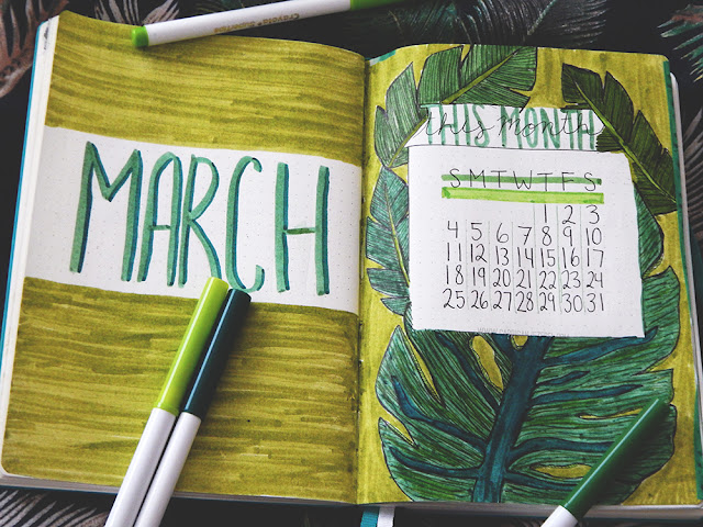 Bullet Journal Set-up || March 2018