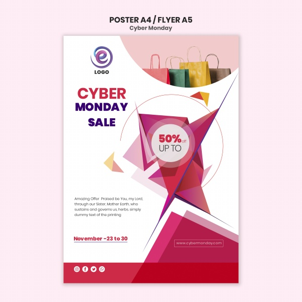 Shopping poster material free psd template