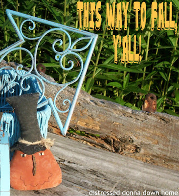 fall decor, Rust-oleum Aqua, distressed painting, quick makeovers