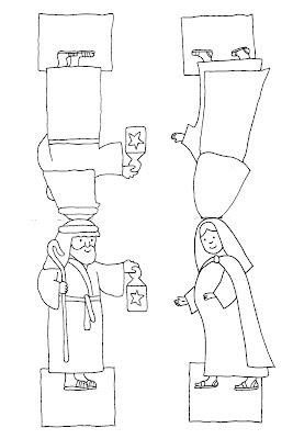 Maria und Josef - Figuren zum Basteln