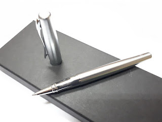 Pulpen Mewah Duke 209 Silver Roller Ball Metal Steel Pen With Box