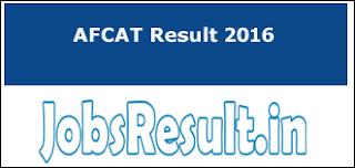AFCAT Result 2016