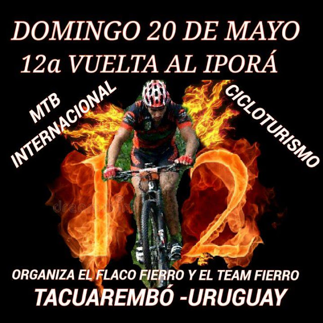 MTB - Vuelta al Iporá (12ªEd., Balneario Iporá, Tacuarembó, 20/may/2018)