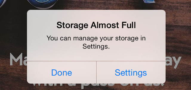 Storage iPhone
