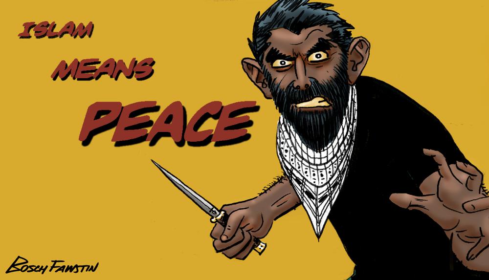 Afbeeldingsresultaat voor peaceful islam cartoon